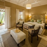 All rooms are garden rooms leading onto private patios with views of the pool area or lodge gardens.