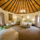 Thatched roofed family room/triple room
